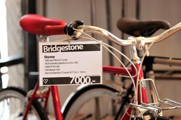Hos Oslovelo kan du få tak i såkalte new-old-stock Bridgestone-sykler fra 1970- og 80-tallet. Rammen på sykkelen som er avbildet er ubrukt NOS-Bridgestone fra 1982. Foto: André Kjernsli