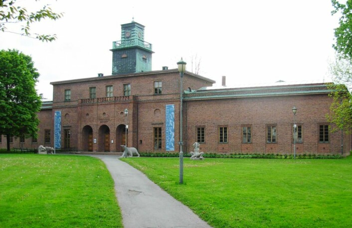 Her i parken utenfor Vigelandsmuseet i Nobels gate var det egentlig plan om å reise Monolitten, før den havnet i Frognerparken. Foto: Vigelandsmuseet