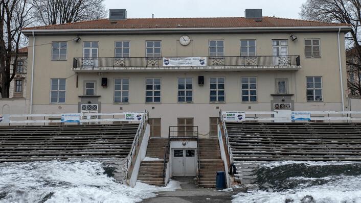 Klubbhuset på Dælenenga har stått på Grunerløkka i snart hundre år. Nå ønsker nye generasjoner av idrettsungdom en flerbrukshall på tomta. Foto: Thor Langfeldt