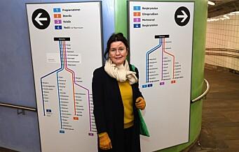 Reisende på Helsfyr T-bane kan glede seg over en ny og fargerik stasjon