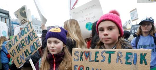 Klimaministeren møtte horder av streikende ungdom