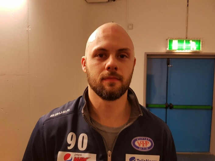 VIF hockeys Daniel Sørvik er revansjelysten foran neste kamp mot Asker. Foto: André Kjernsli