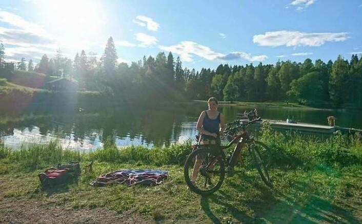 Løvenskiold skog er skeptiske til at elsykler får lov til å kjøre utenfor veiene i marka. Foto: Naturvernforbundet i Oslo og Akershus