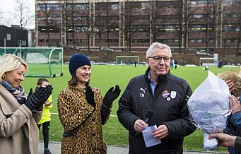Torgny Hasås, fra Grüner Fotball, hedres som årets ildsjel i Oslo