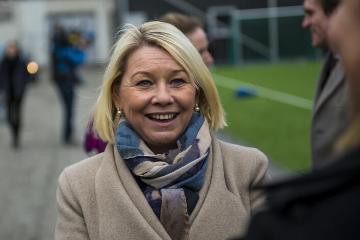 � Vi satte hensynet til barna først, sier kommunal- og moderniseringsminister Monica Mæland. Foto: Morten Lauveng Jørgensen