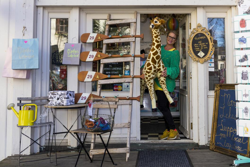 I Hegdehaugsveien 28 ligger butikken hvor du kan finne lekene som gir deg den gode følelsen. Foto. Morten Lauveng Jørgensen