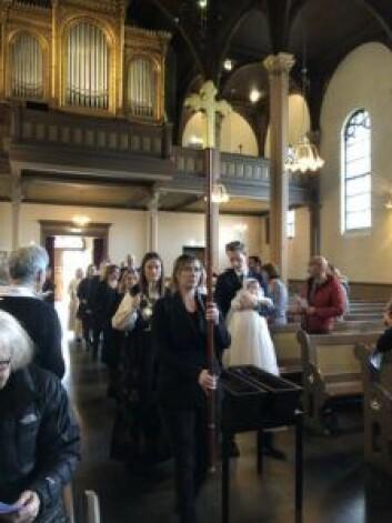 En trist dag for menigheten, som nå snart vil bli en del av Paulus kirke. Foto: Kjersti Opstad