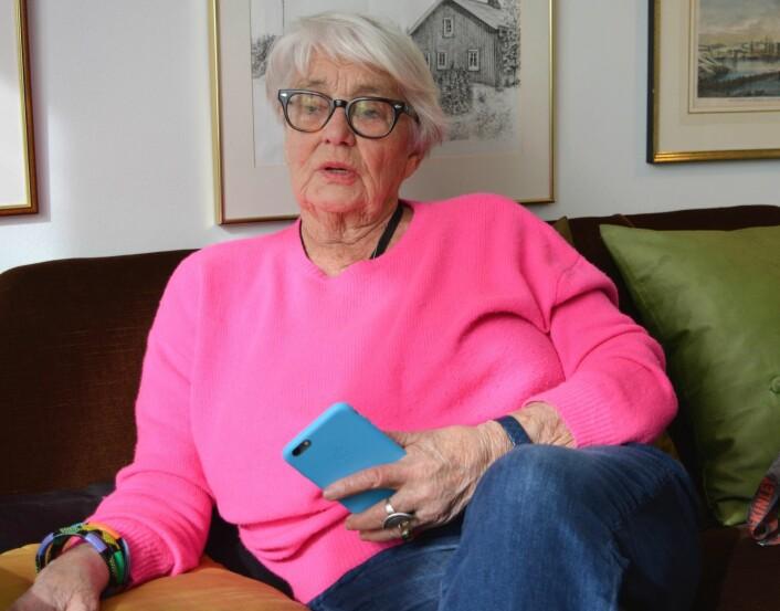 Oslos tidligere kinosjef Ingeborg Moræus Hansen (80) er svært glad for at det fortsatt vil være kinodrift ved Gimle kino også i framtiden. Foto: Christian Boger