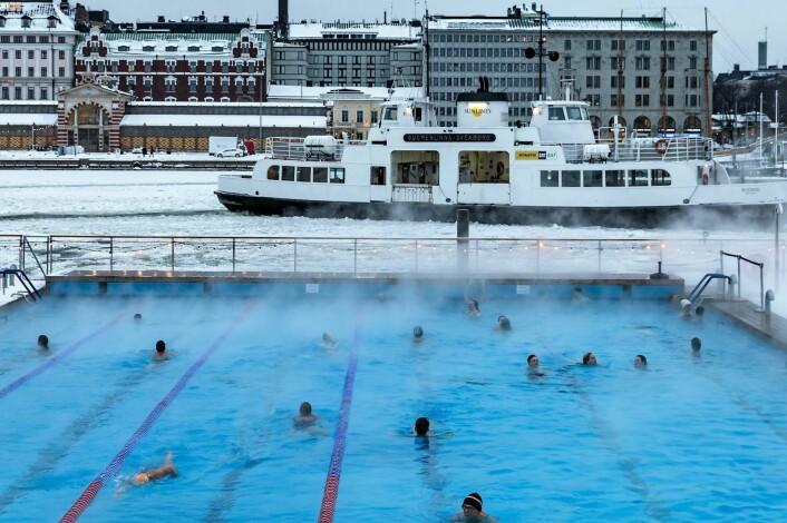 Allas Sea Pool i Helsinki er blitt svært populært blant finnene, året rundt. Foto: Kallerna/Flickr