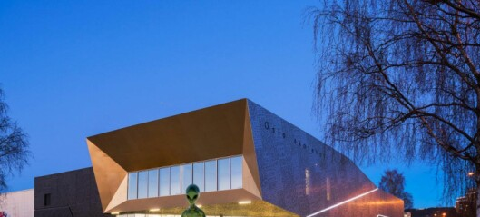 En stor statue av et romvesen skal plasseres foran Oslo skatehall