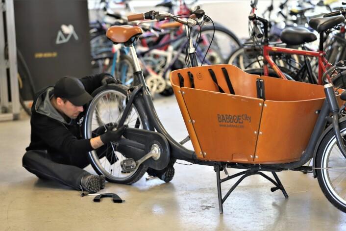 Her mekkes det på alle typer sykler. Foto: André Kjernsli