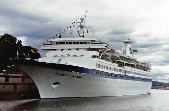 MS Song of Norway, Royal Caribbean Cruise Line på Oslobesøk i 1970-årene. Foto: Erik Ødemark