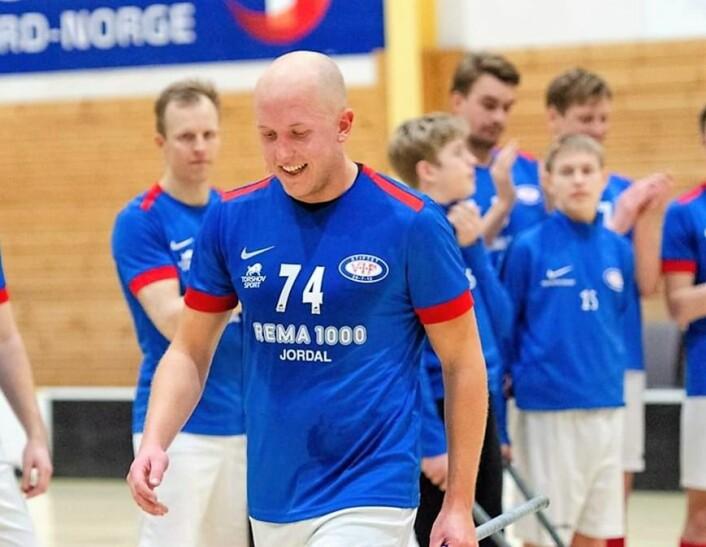 Mats Løkken var en av de store bidragsyterne til Vålerenga innebandys opprykkssesong. Etter jul stod han i snitt for 3,9 poeng per kamp. Foto: Vålerenga innebandy