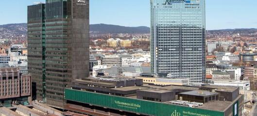 Midt i Oslos betongørken ved Oslo S, pynter KLP Eiendom veggen med mose