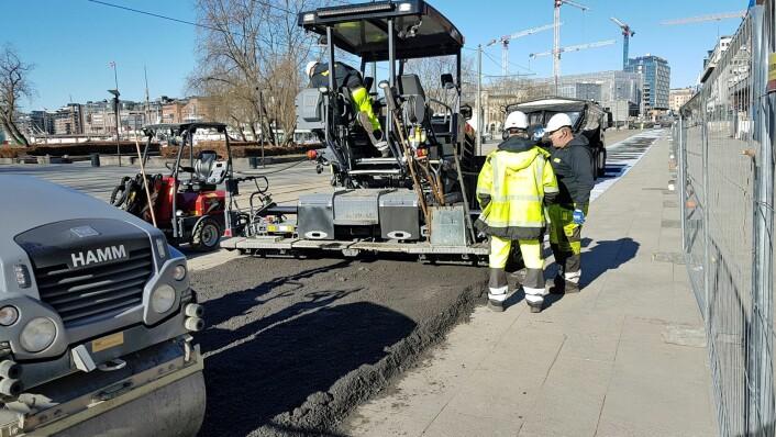 Sykkelveien skal gjøre det tryggere å være myk trafikant i byen. Foto: Statens vegvesen