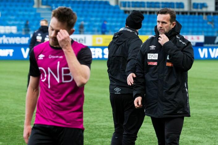 Vålerengas trener Ronny Deila etter tapet i eliteseriekampen i fotball mellom Molde og Vålerenga på Aker Stadion. Foto: Svein Ove Ekornesvåg / NTB scanpix
