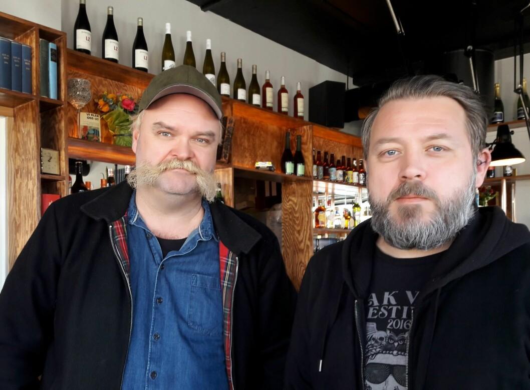 Atle Antonsen (tv) og  Kenneth Simonsen vil at Lun skal bli en moderne bydelskro, et sted hvor du kan bli kjent med naboen din. Foto: Anders Høilund