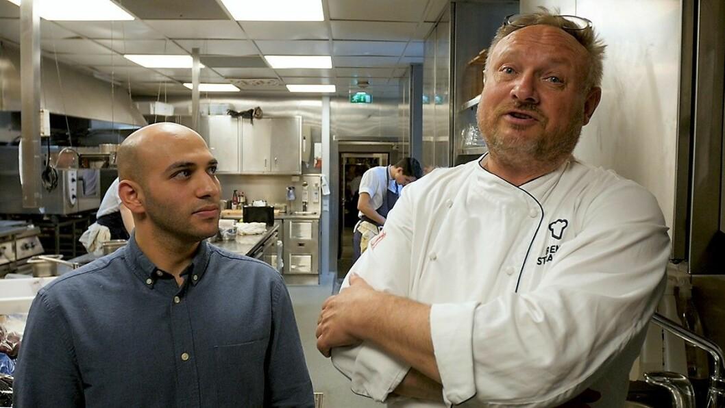 Fremover blir Mahmoud Masttat å finne på kjøkkenet til Bent Stiansen. Foto: Thor Langfeldt