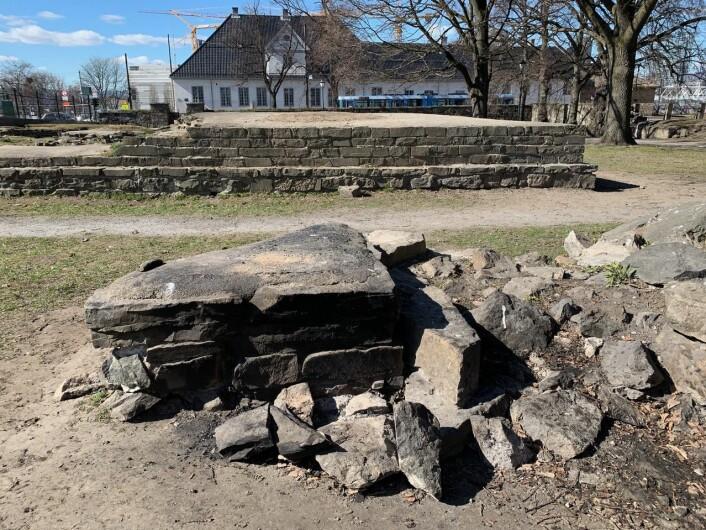 Kulturetaten i Oslo kommune, som forvalter området, har nå gått til politianmeldelse av vandalismen. Foto: Oslo byes vel
