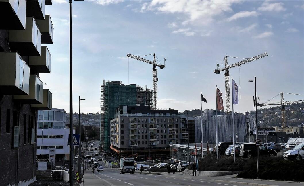 Ensjøbyen er stadig under utvikling. Husene spretter opp, men hvor blir det av parkene. Foto: Maria Kjellesvik