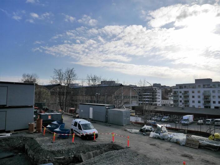 Det er langt mellom parkdragene som skulle opparbeides i Ensjøbyen. Foto: Maria Kjellesvik