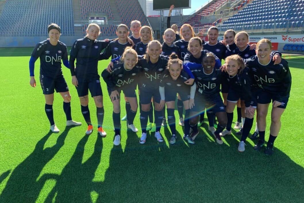 Vålerengas damelag har fått en knallstart på sesongen, og står med ni poeng av ni mulige etter tre kamper. Foto: Vålerenga fotball