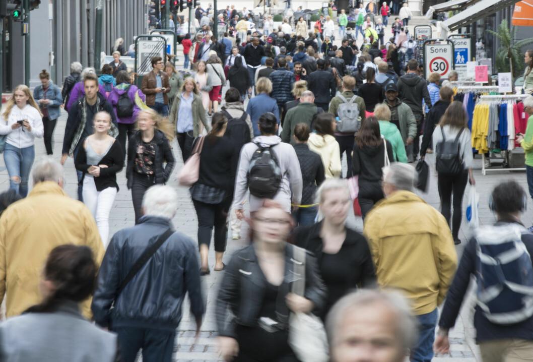 Mellom 2007 og 2017 vokste Oslos befolkning med 63.000. I samme periode var netto utflytting fra hovedstaden blant dem med etnisk norsk bakgrunn på 5.000, viser en undersøkelse SSB har laget på oppdrag for Frp. Foto: Vidar Ruud / NTB scanpix