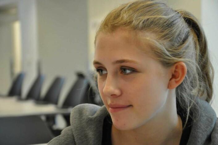 — Det er min generasjon som skal forvalte demokratiet, sier 20 år gamle Linnea Svinndal. Foto: Arnsten Linstad