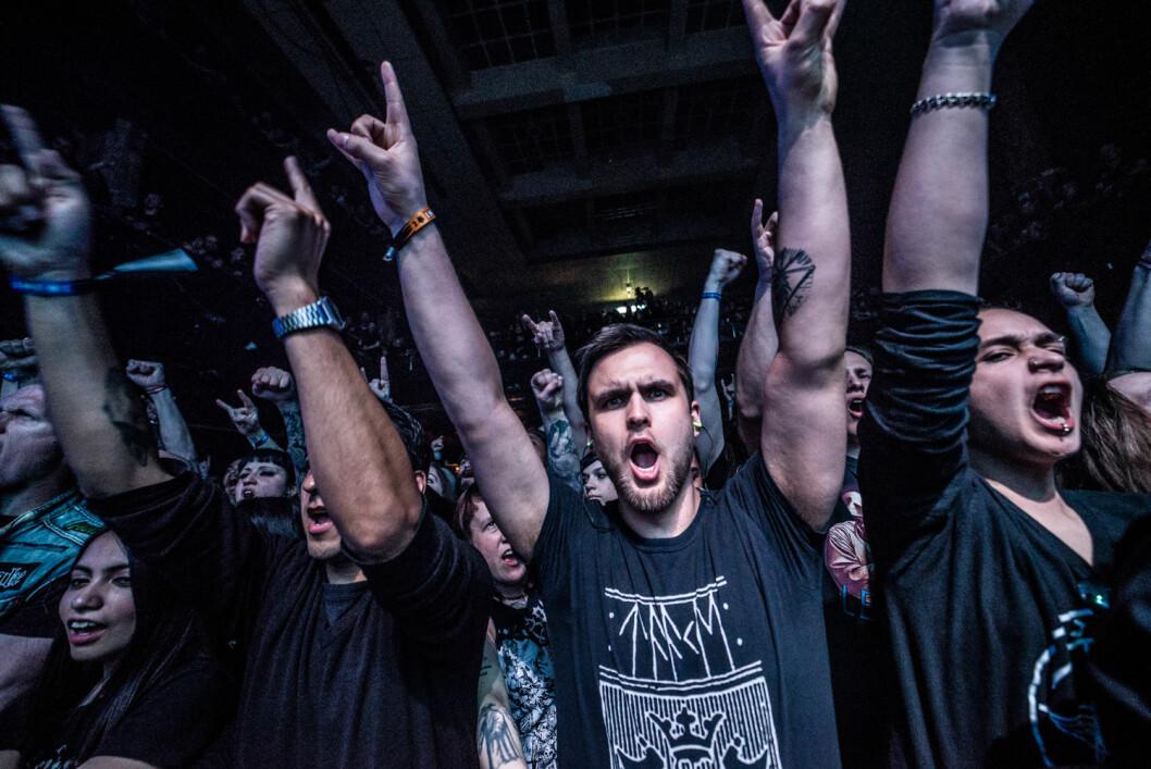 Publikum fra hele verden hyllet sine skandinaviske black metal-helter. Foto: Terje Ottesen / Inferno Metal Festival