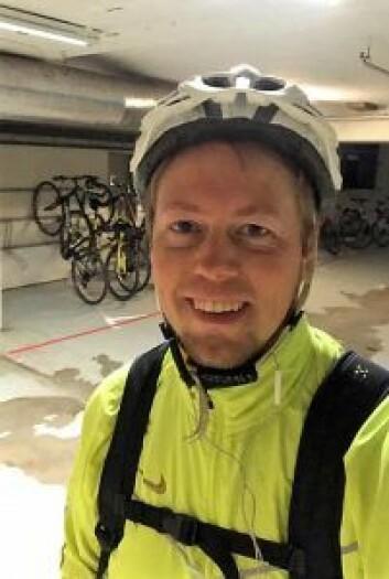 Skribenten er selv en aktiv syklist. Foto: Privat