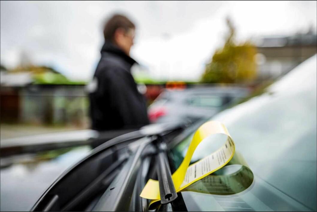 De to mennene gikk til angrep på parkeringsvakten, som ble sykmeldt etter episoden. Foto: KS bedrift