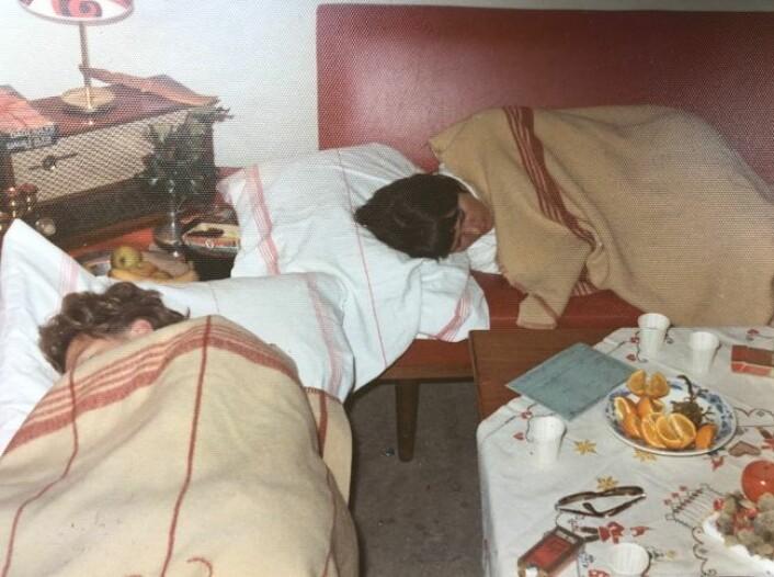 Sykepleierne sov på omgang på nattevaktene. Foto: Privat