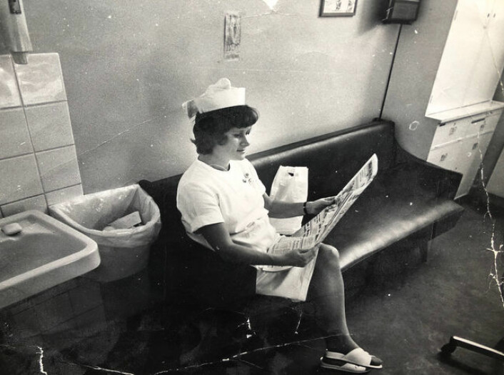 Kjellfrid Sunde var ferdig utdannet sykepleier fra Diakonhjemmet i 1968. Hun tok praksis ved Legevakten i studietiden, og da hun så at det var en ledig stilling der, søkte hun og fikk jobben. Foto: Privat