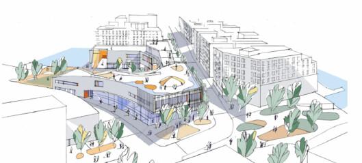 Den nye barne- og ungdomsskolen i Bjørvika blir ett år forsinket