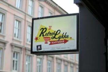 Ingen tvil om hva lykke er i denne kaféen. Foto: André Kjernsli