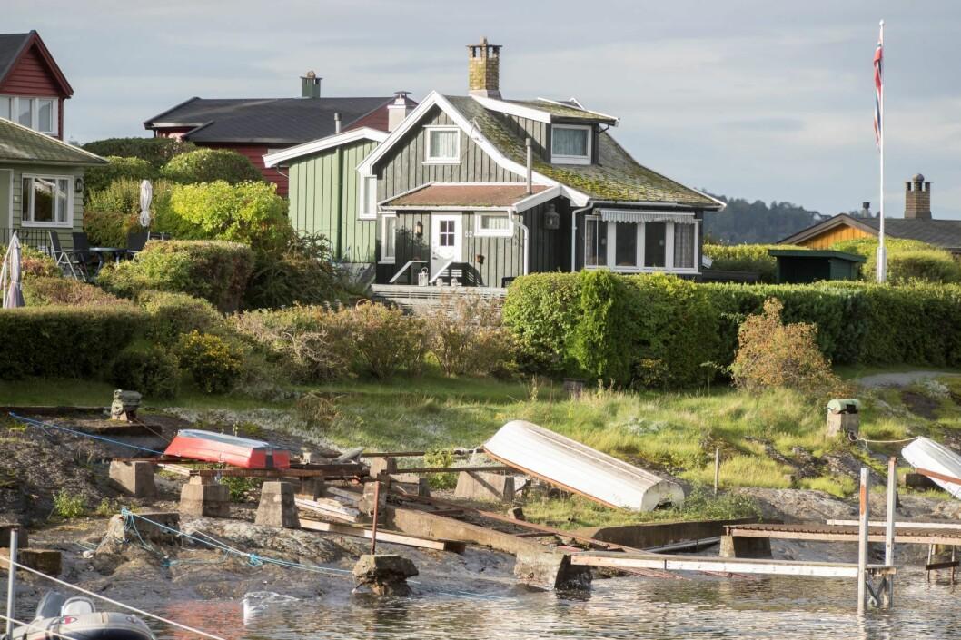 Fra idylliske Lindøya i Oslofjorden. Hytta på bildet er ikke en del av saken. Foto: Terje Pedersen / NTB scanpix
