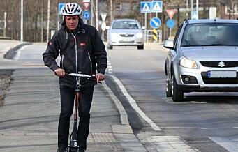 Forsikringsselskap frykter alvorlige ulykker med elsparkesykkel i sommer