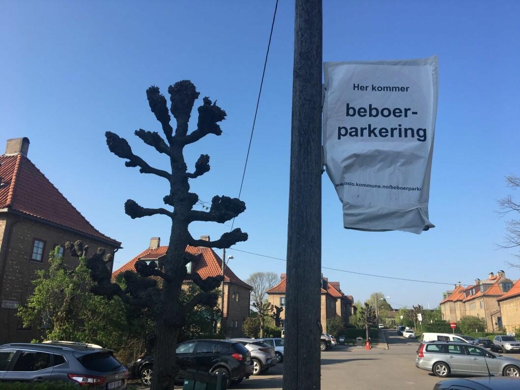 Lille-Tøyen er et av nabolagene som nå vil få beboerparkering. Foto: Vegard Velle