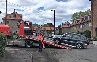 – Oslo kommune tjener ikke penger på inntauing av biler