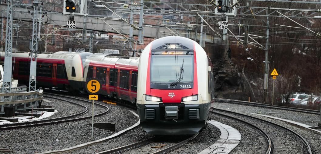 Tog til Lillehammer på Skøyen stasjon i april 2018. Foto: Lise Åserud / NTB scanpix