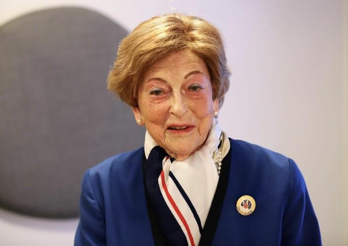 Karin Bergh Jørgensen er Oslo Guideforenings Grand Old Lady med over 60 års innsats å vise til. Foto: André Kjernsli