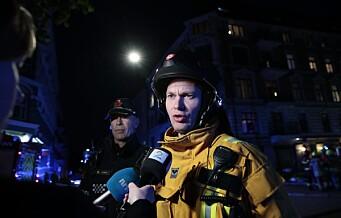 Brannen i Munkedamsveien er slukket. 10 biler fra brannvesenet jobbet for å få kontroll på flammene