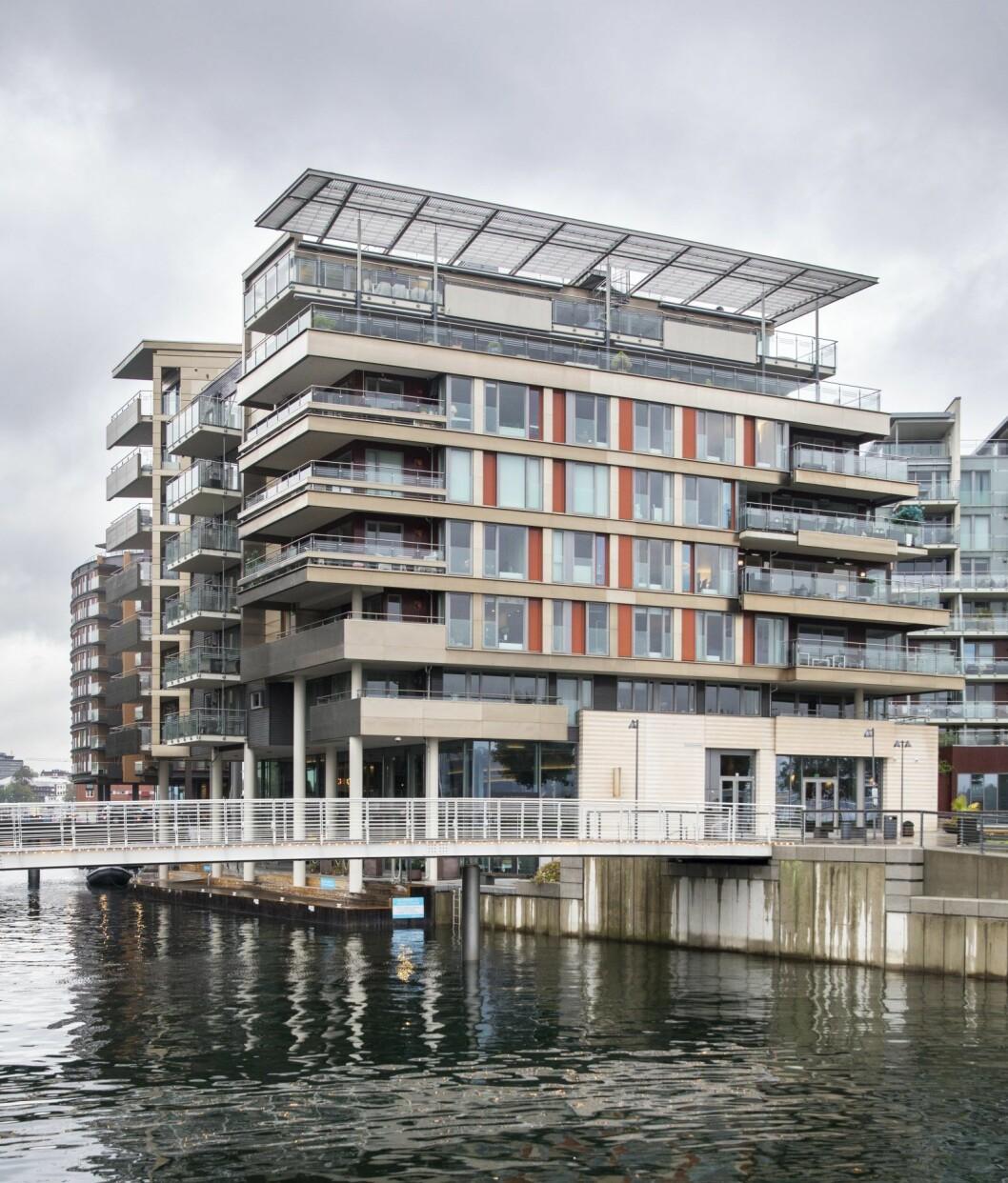 Kraftspekulant Einar Aas eier to toppleiligheter  i Strandpromenaden 5 på Tjuvholmen i Oslo. Han kjøpte dem i 2009 for rundt 42 millioner kroner og slo dem sammen til én leilighet. Foto: Ole Berg-Rusten / NTB Scanpix
