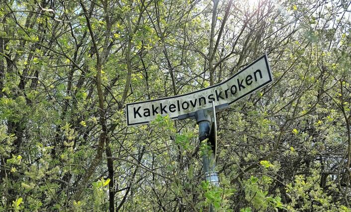 Kakkelovnskroken på Rødtvedt er Felicia Wolden Hoels favorittnavn blant alle Oslos gatenavn. Veien har fått navn etter en kakkelovnsfabrikk som lå på stedet. Foto: André Kjernsli