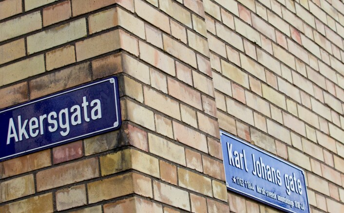 Akersgata og Karl Johans gate ved Stortinget. Foto: Vegard Grøtt / NTB scanpix