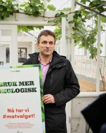 Miljøbyråd Arild Hermstad ønsker å sette fart på satsingen innen økologisk mat i kommunen. Foto: Birgitta Eva Hollander - Heia Folk