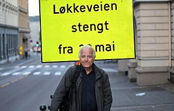 Mandag stenges Løkkeveien i ett år. — Endelig er 50 års venting over, sier aktivisten Erik Karlsen