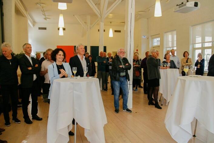 Landets økonomisk elite var til stede ved sammenkomsten i professorboligen i Karl Johans gate 47. Foto: Astrid Ledang / Oslo Byes Vel
