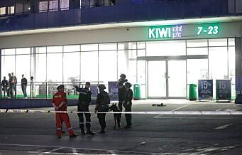 Skudd avfyrt fra automatvåpen mot Kiwi-butikken på Stovner