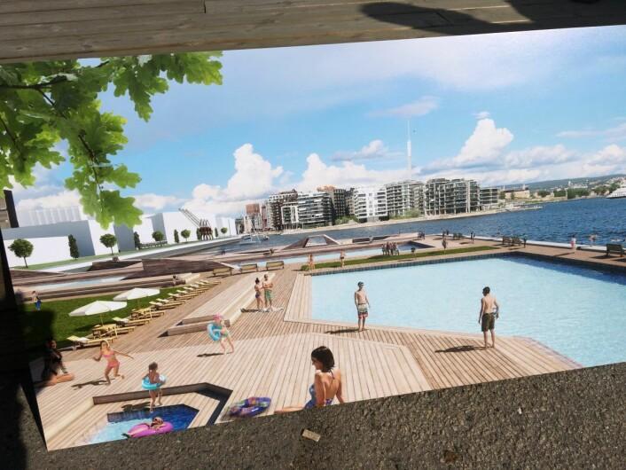 Sannsynligvis vil vi få et fjordbad som en del av Filipstad. Foto: Vegard Velle